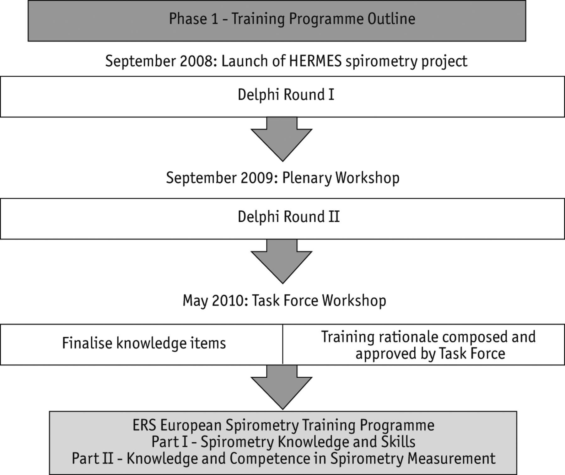HERMES Spirometry: the European Spirometry Driving Licence